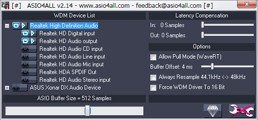 Auxiliary audio applications list
