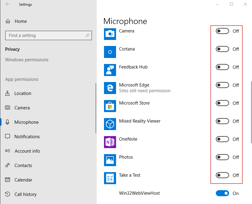 Fix microphone not working after Windows 10 1803/1809/1903 update