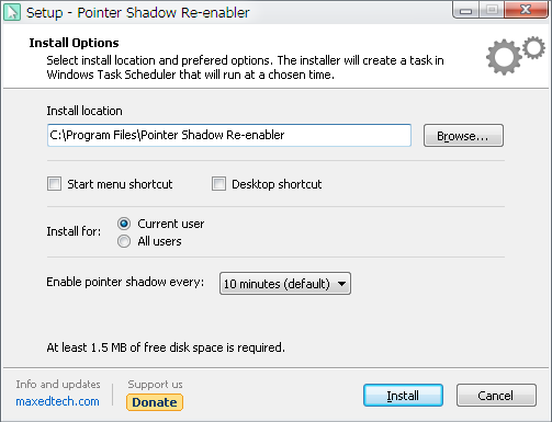 Pointer Shadow Re-enabler